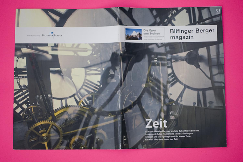 Corporate Publishing . Bilfinger Berger Magazin / Zeit