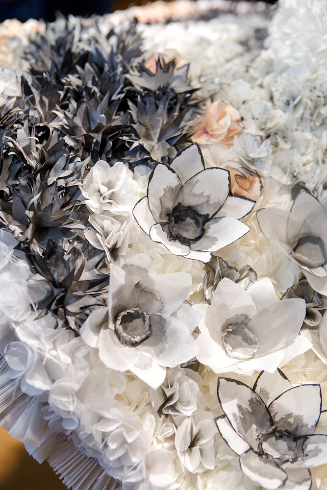"""Shades of Gray"" paper sculpture by Kelly O'Brien"