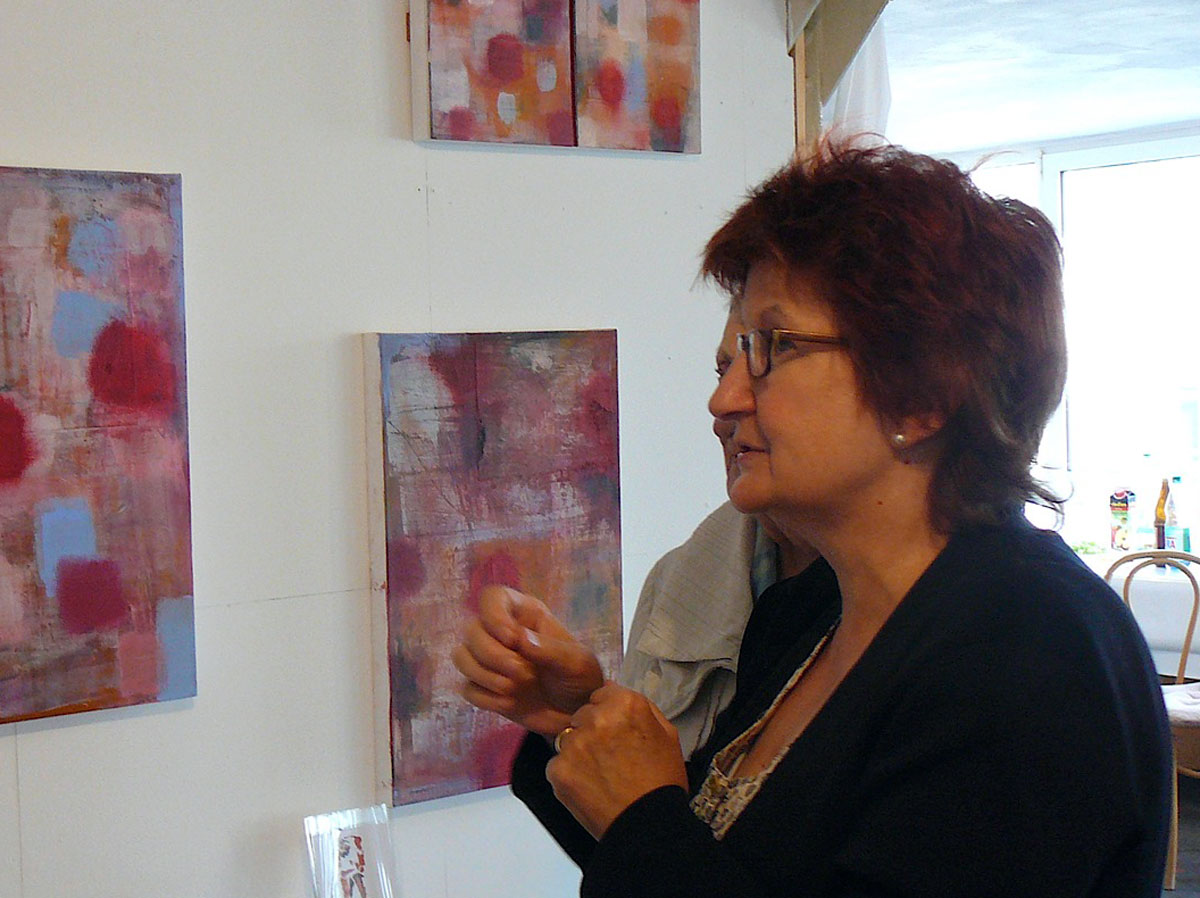 Astrid Blasberg in her studio at the Fabrik in Roedelheim (Image: courtesy of Astrid Blasberg)