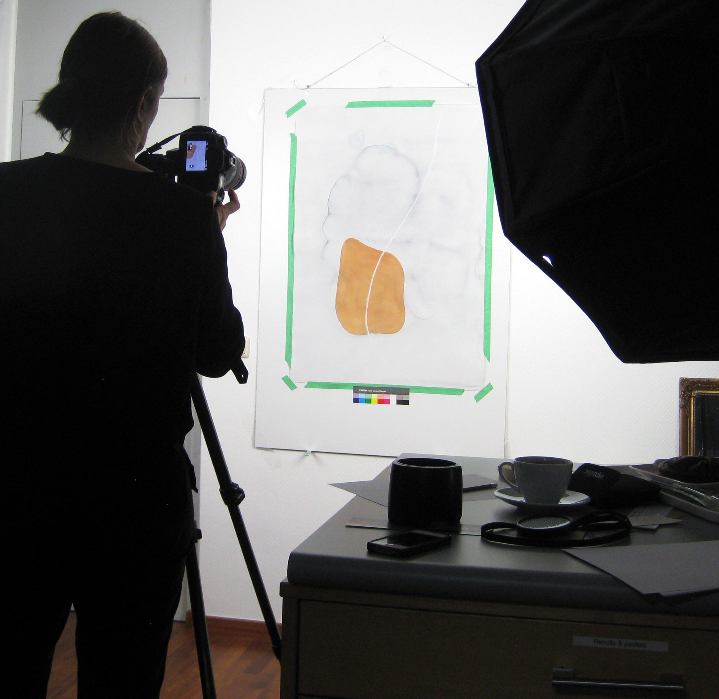 Julia Schwager photographing my work for the exhibition catalog