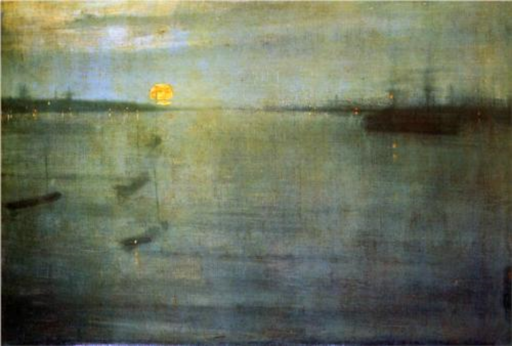 Whistler,  Nocturne Blue and Gold Southampton Water , 1872; oil on canvas