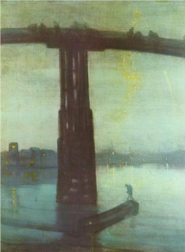 Whistler,  Nocturne: Blue and Gold – Old Battersea Bridge , 1875; oil on canvas