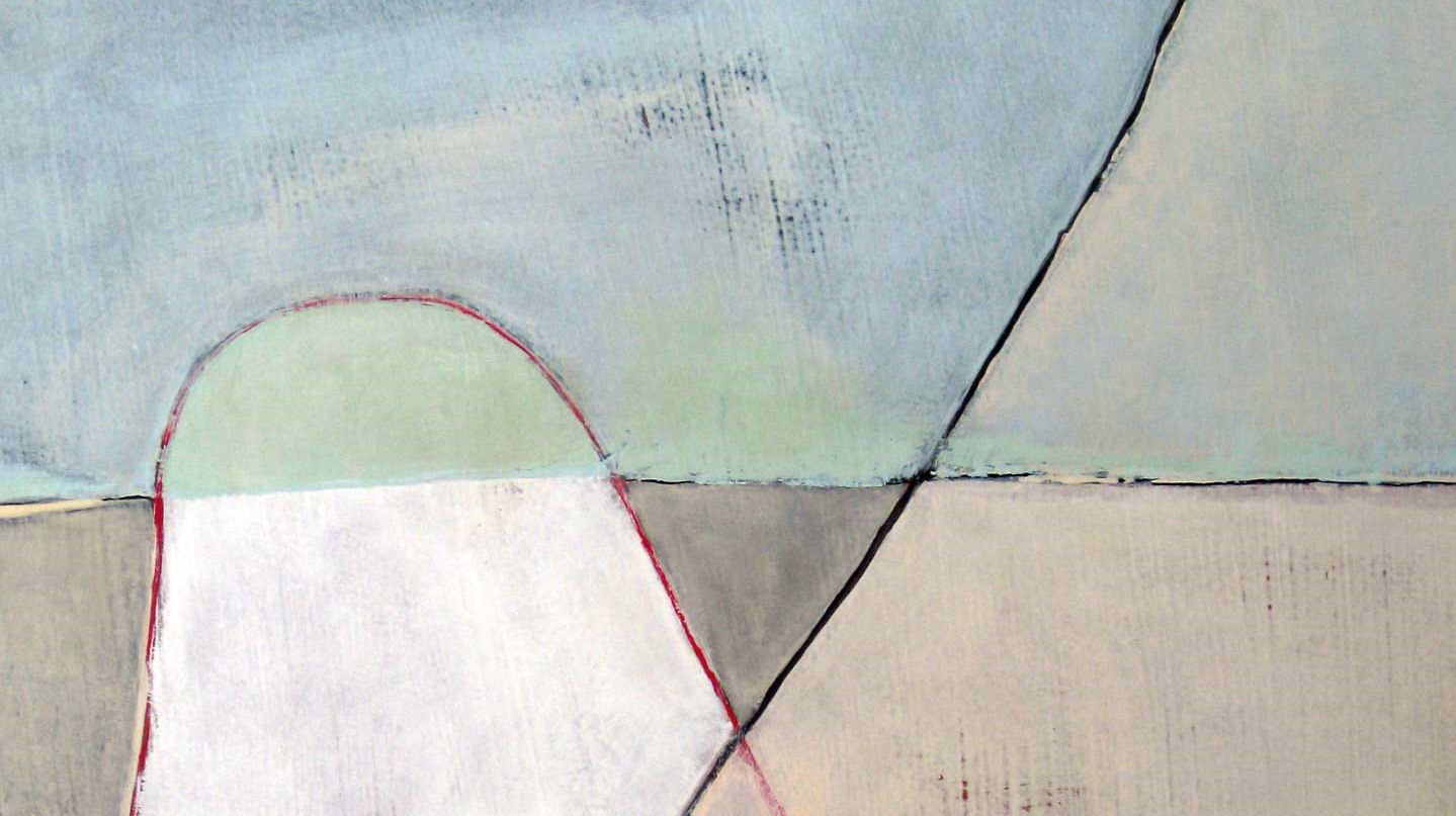 Kelly O'Brien,  Home is Where You Are  (detail). Acrylic on paper on canvas. 2014