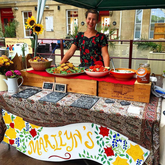 "Marilyn's ""home cooked food for busy people,"" Bath Artisan Market"