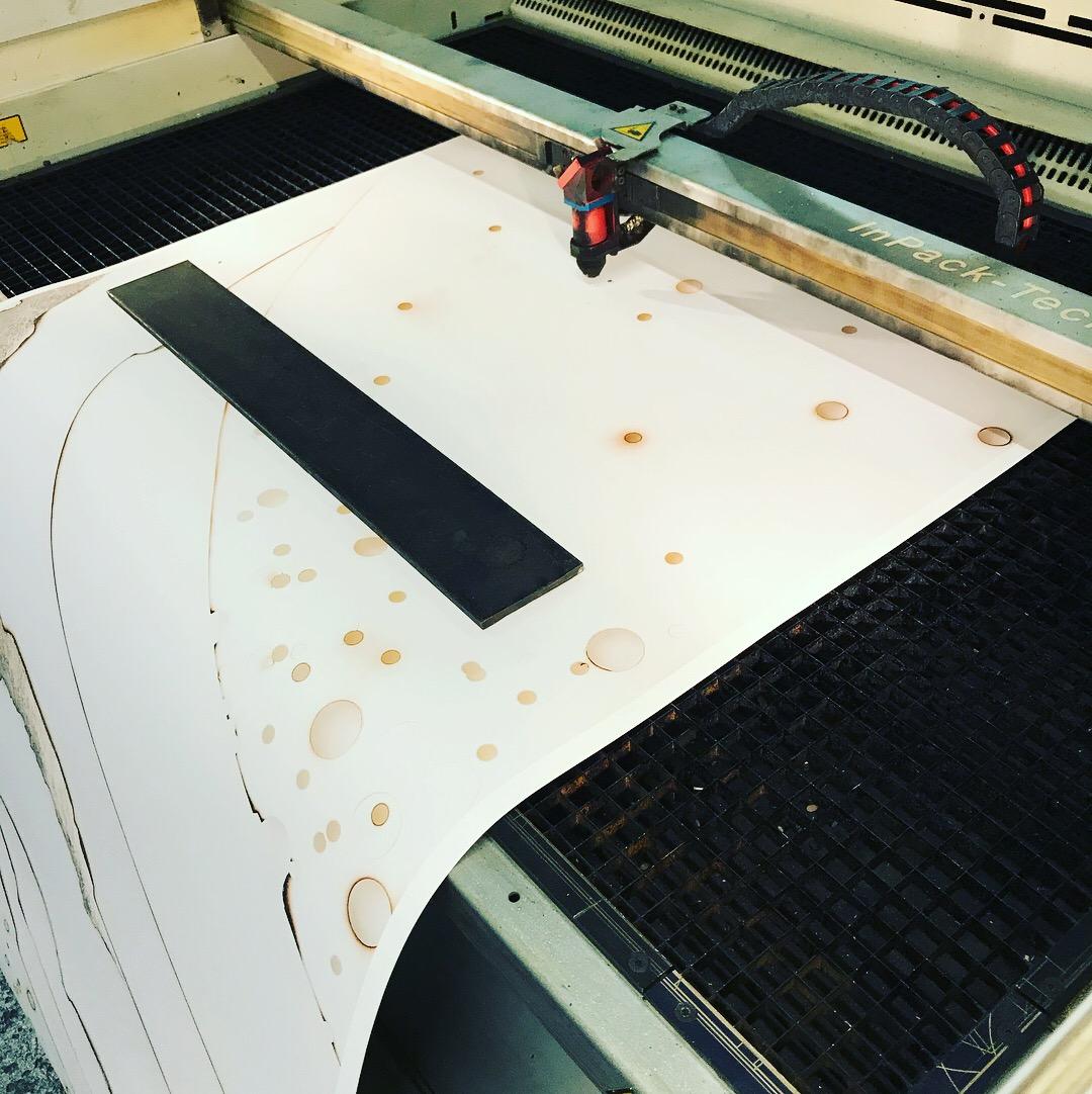 Laser cut tests at Bristol Design Forge.Kelly M. O'Brien ©2017
