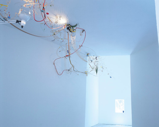Sze, S. (1999) Capricious Invention of Prisons, installation view, 48th International Exhibition of Contemporary Art, Venice Biennale, Venice. Available at: https://art21.org/gallery/sarah-sze-artwork-survey-1990s/#6. Accessed: 8 December 2017).