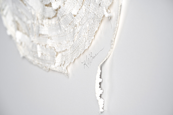 Kelly M O'Brien,  Stitch No. 1  Paper, cotton thread. 12 x 12 in | 30 x 30 cm. ©2019