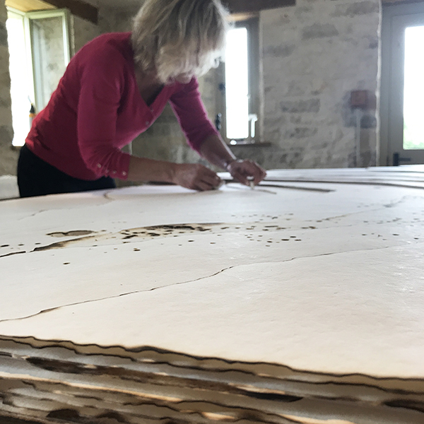 Pip Falkner-Lee working on a new large-scale commission. Kelly M O'Brien ©2019