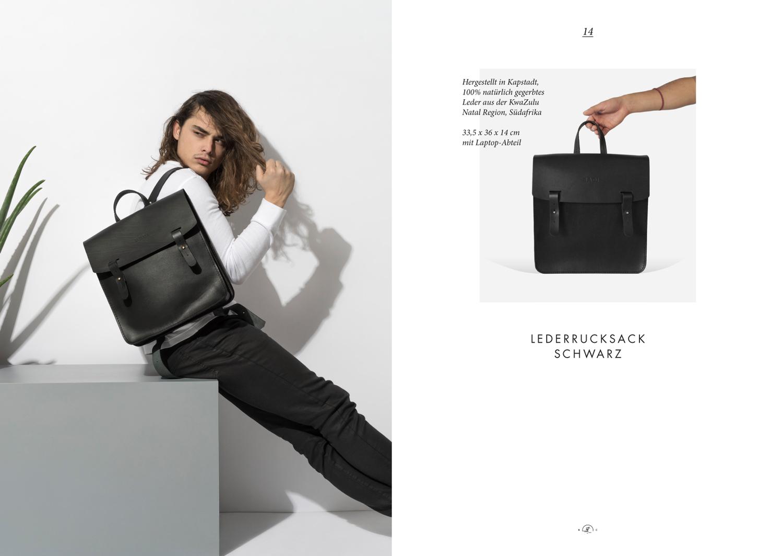 BADI Culture Lookbook_2017_leder rucksack schwarz