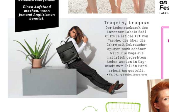 BADI Culture im Friday Magazin close up