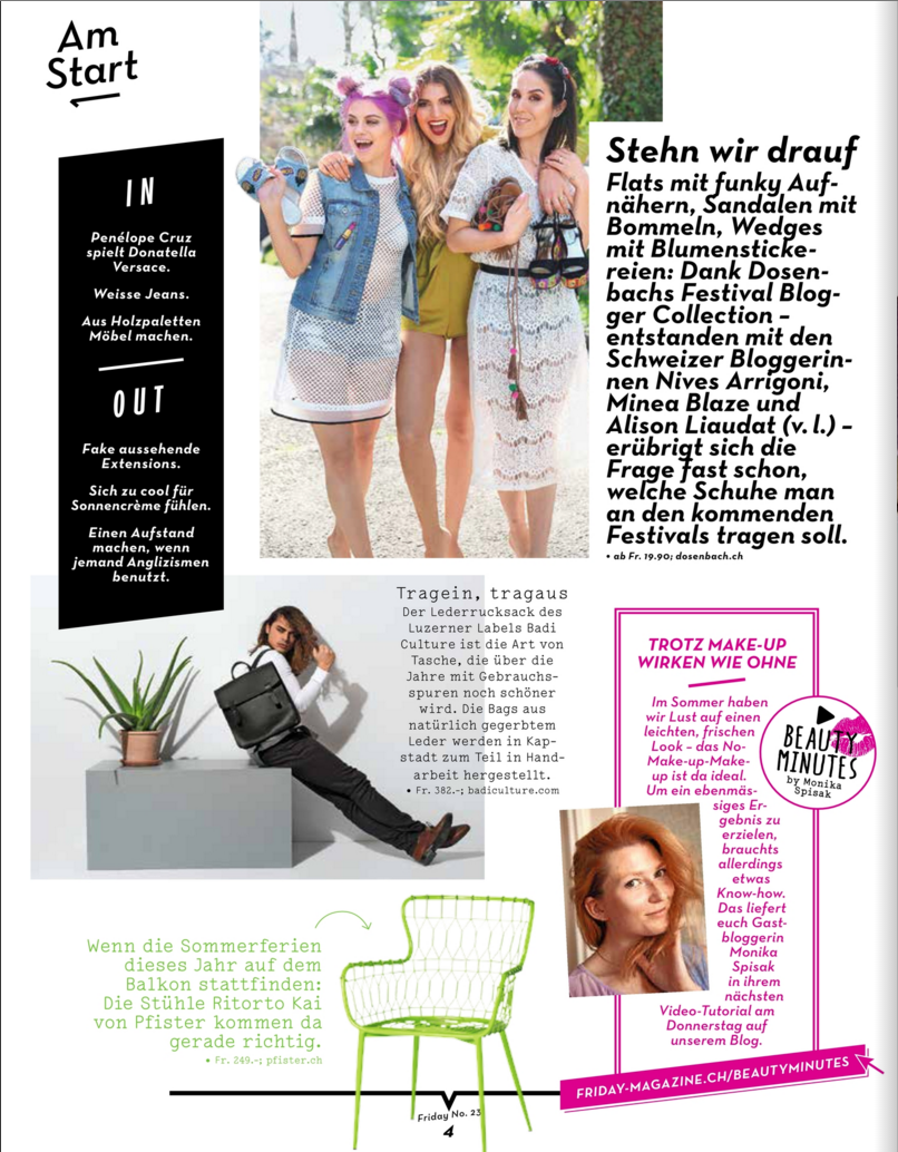 BADI Culture im Friday Magazin second page