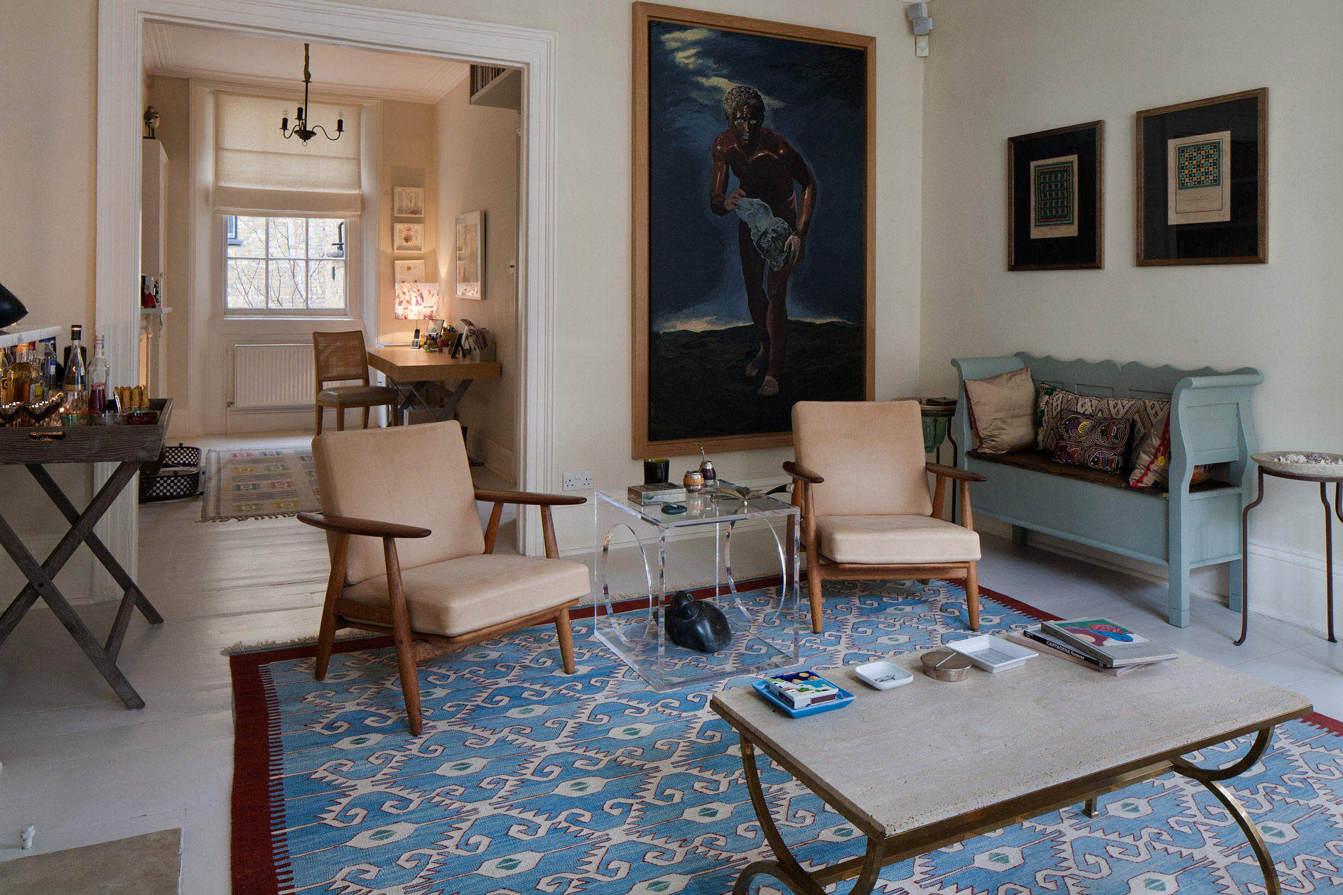 Large painting creates another 'doorway' into and from the room