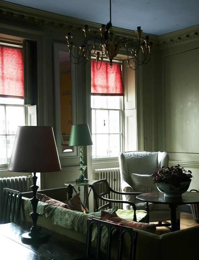 Marianna Kennedy's book cloth blinds at 3 Fournier Str