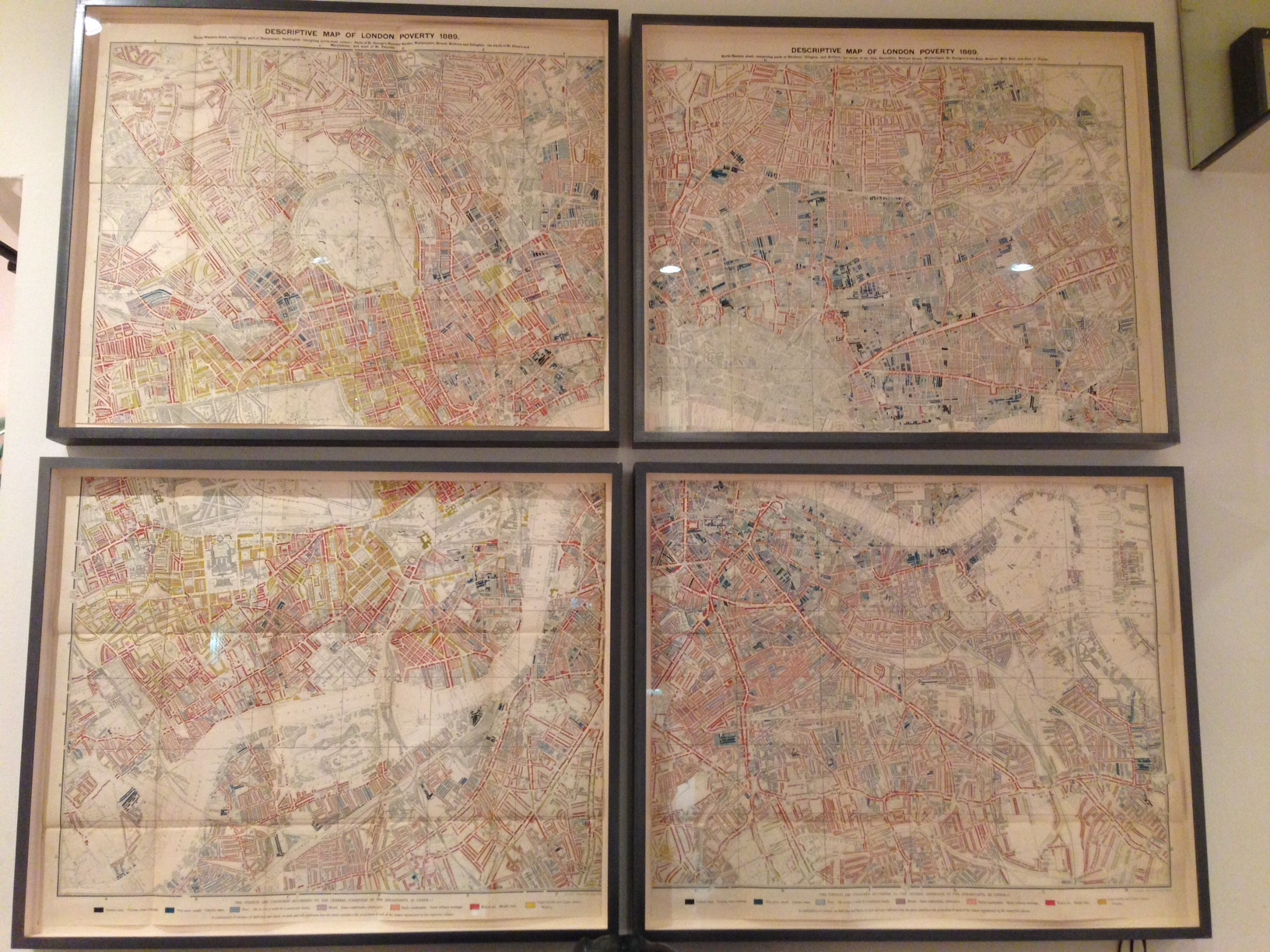 Soane's framed version of Charles Booth's London Poverty Map