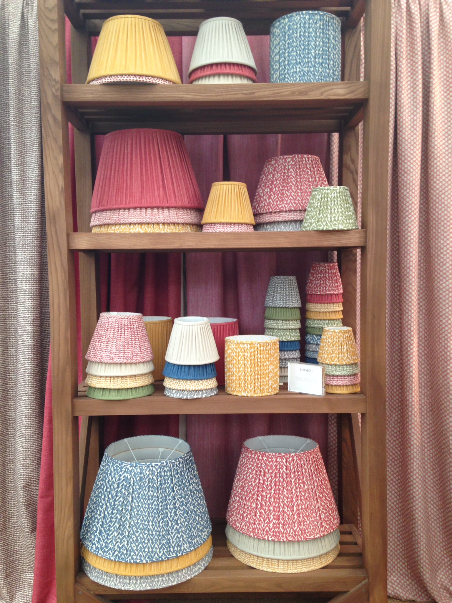 Fermoie's by now familiar, but ever fresh selection of lampshades.