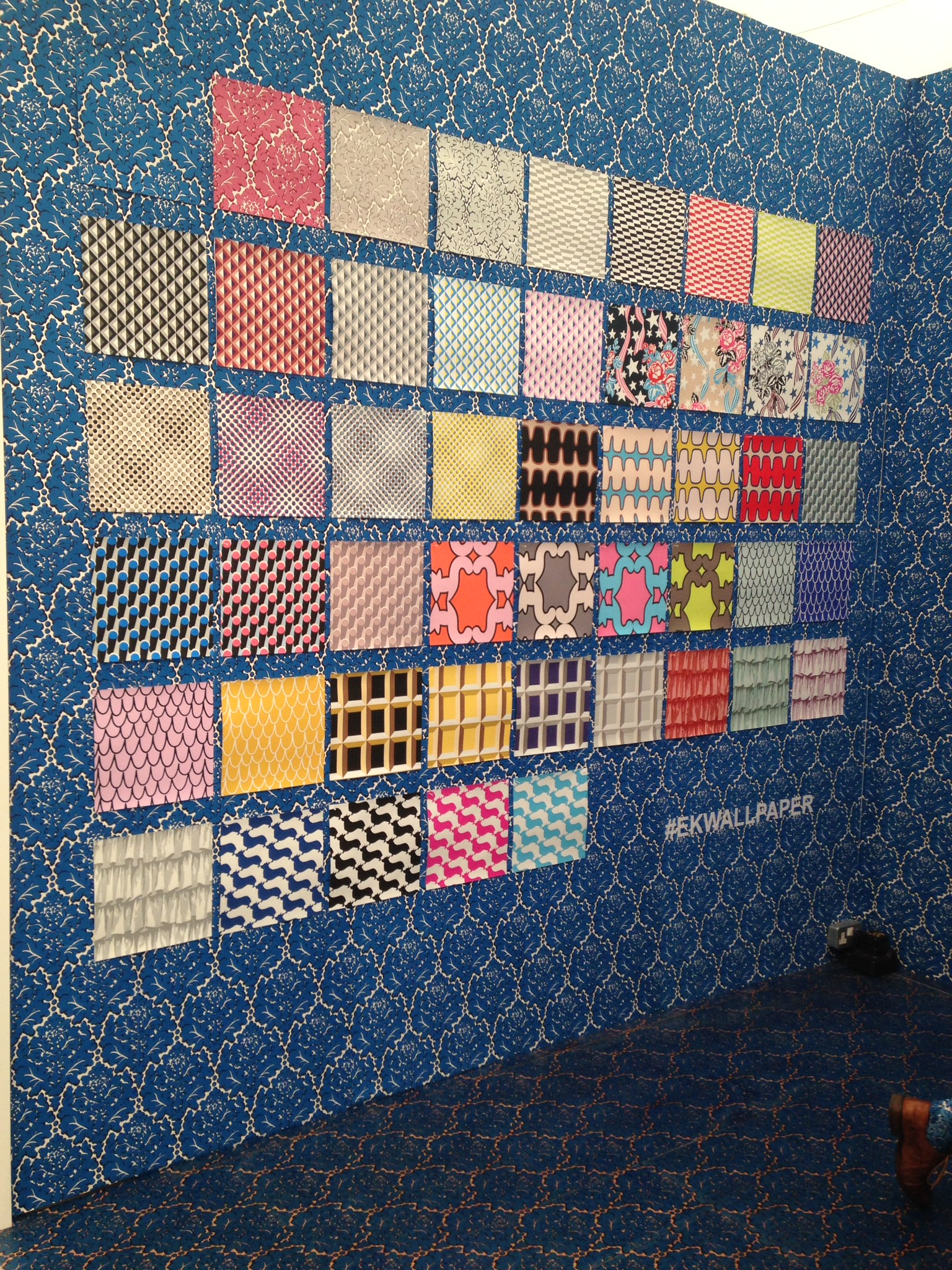 Eley Kishimoto won 2nd prize for best stand at Decorex 2014. It really was v striking.