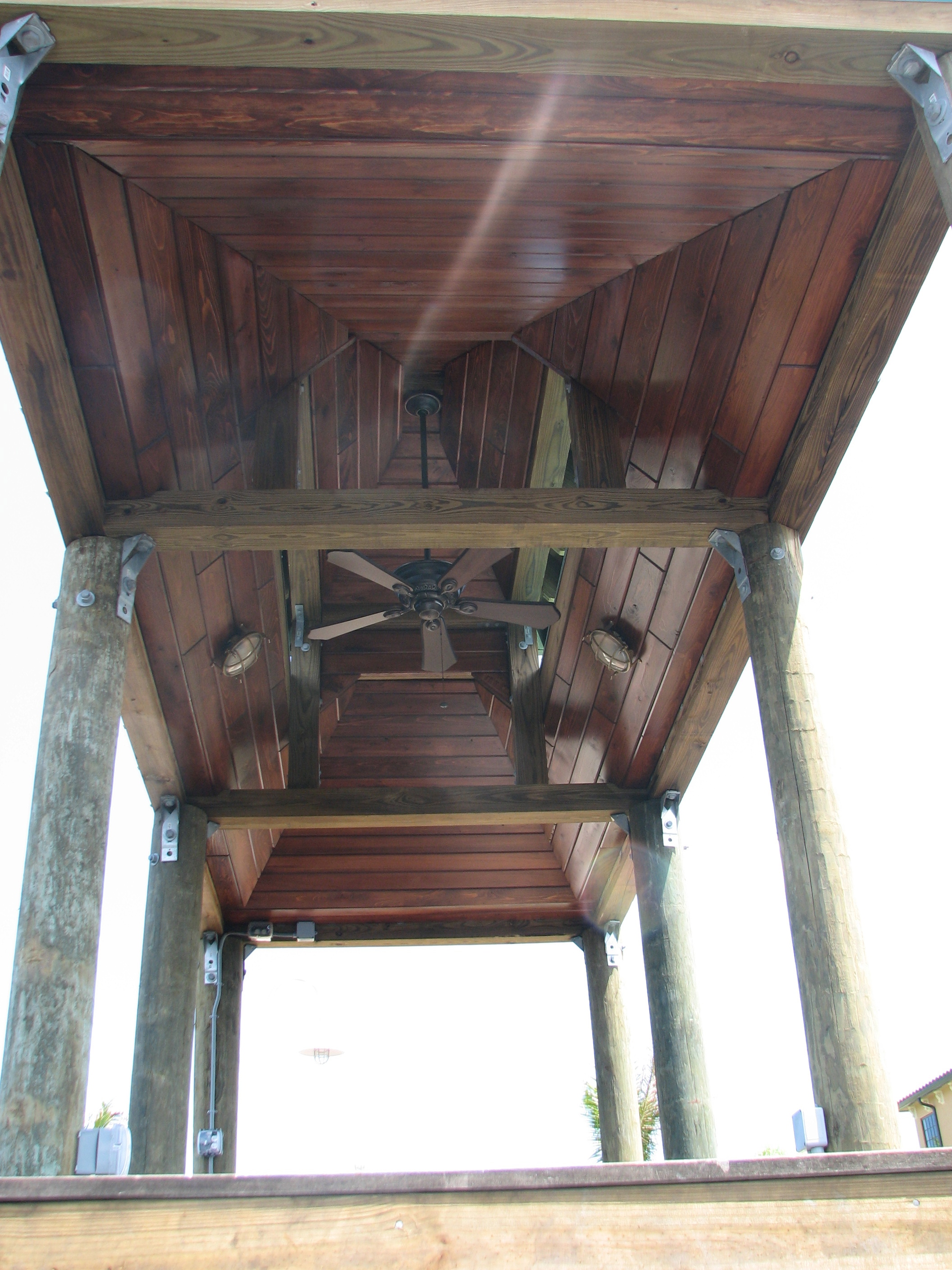 Pecky Cypress Boat House Stained Tongue and Groove Roof .jpg
