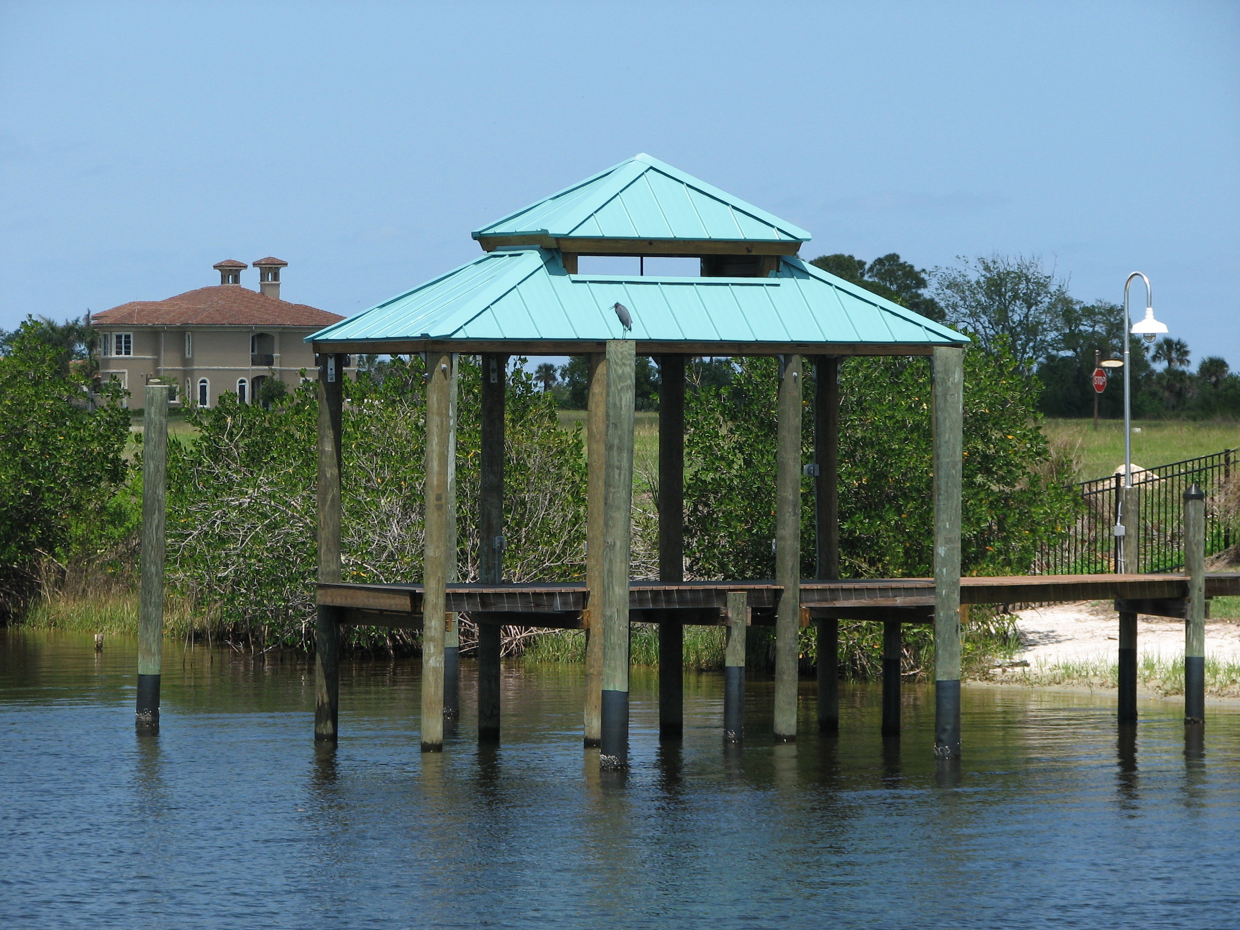 Boat House Covered Dock Covered Fishing Platform St. Lucie County, PSL Fl..JPG