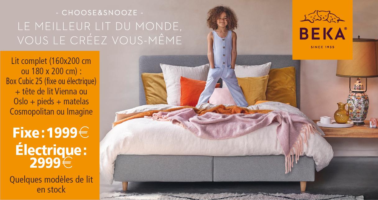 Le meilleur lit du monde… vous le créez vous-même. Profitez de notre action Beka!