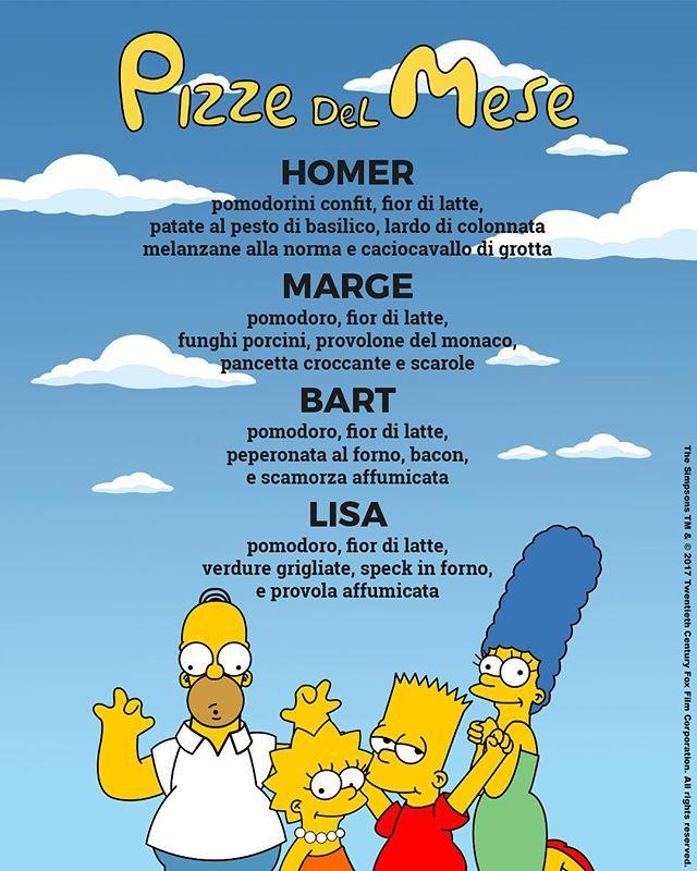 🔶🔶 Anche questo mese siamo pronti a farvi assaggiare 4 super nuove pizze 🍕. Questo mese come tema abbiamo scelto loro, gli amatissimi Simpson!! Mi raccomando, non dimenticatevi di continuare a seguire le nostre Instagram Stories per scoprire ogni mese in anteprime le nuove pizze del mese. #totopeppino 🔸🔸