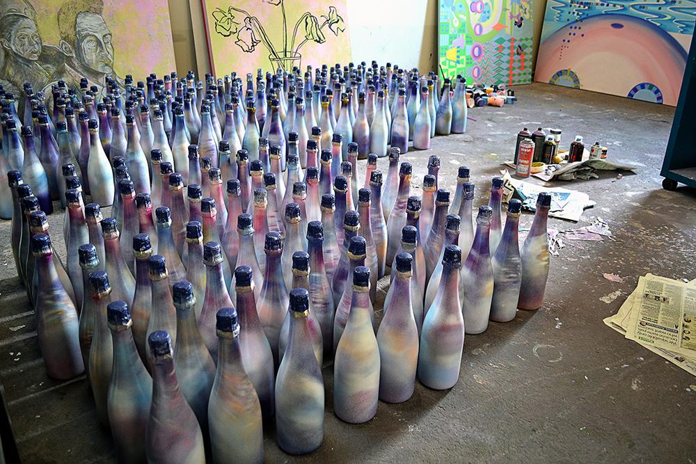 sweet dreams ali tareen bottle project spray paint in prague.jpg