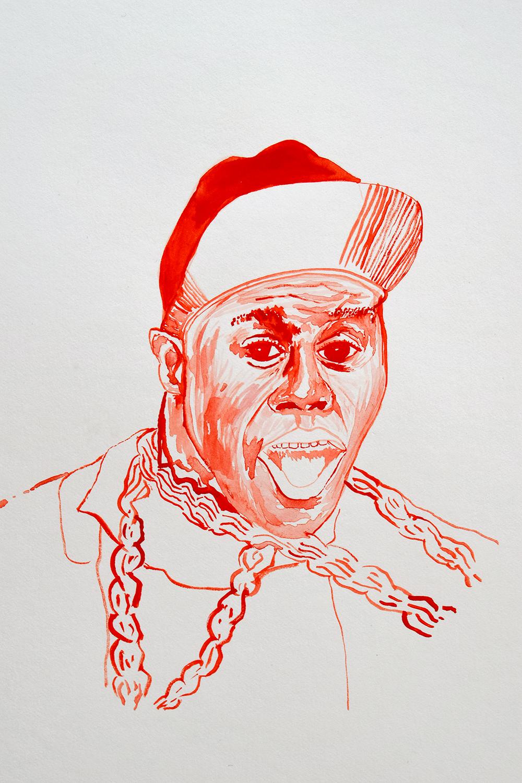 `Biz Markie', 29.7 x 42.0cm, watercolour on 230g akvarel paper, 2017
