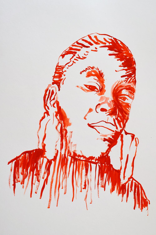 `Roxanne Shante', 29.7 x 42.0cm, watercolour on 230g akvarel paper, 2017