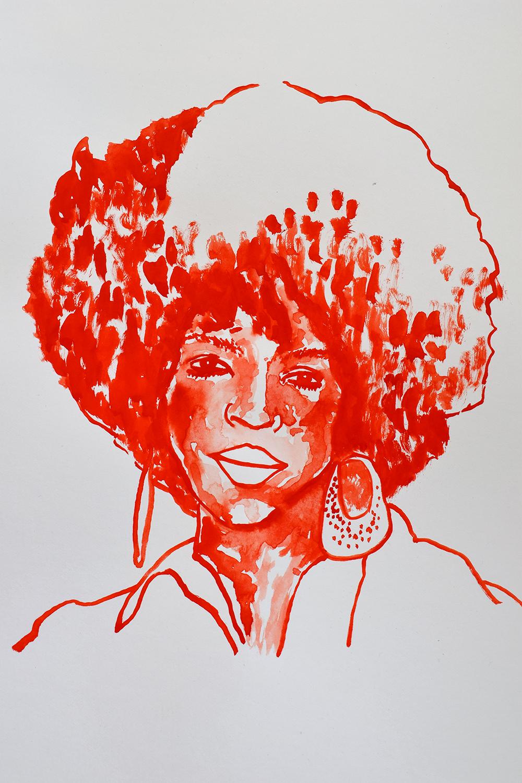 `Lauren Hill', 29.7 x 42.0cm, watercolour on 230g akvarel paper, 2017
