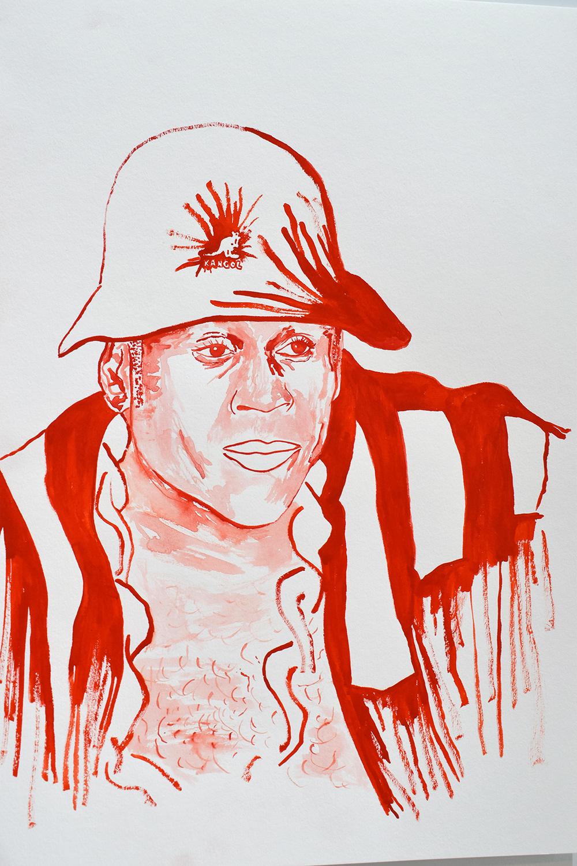 `LL Cool J', 29.7 x 42.0cm, watercolour on 230g akvarel paper, 2017