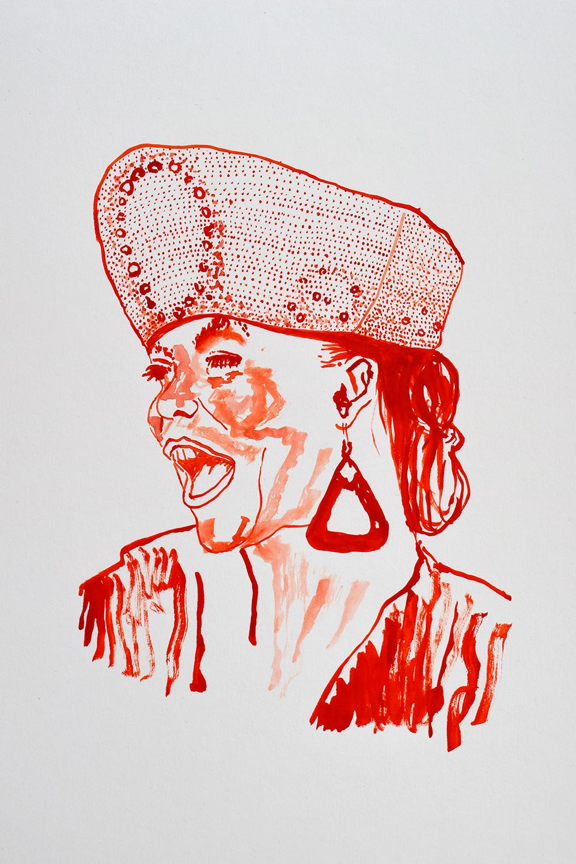 `Queen Latifah', 29.7 x 42.0cm, watercolour on 230g akvarel paper, 2017