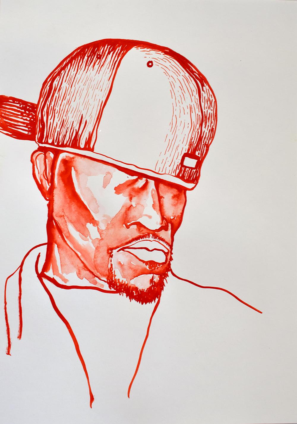 `Redman', 29.7 x 42.0cm, watercolour on 230g akvarel paper, 2017