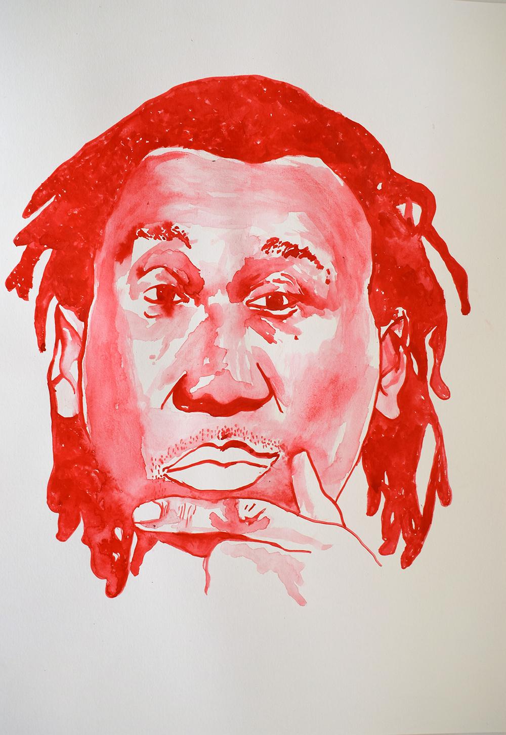 `Krs One', 29.7 x 42.0cm, watercolour on 230g akvarel paper, 2017