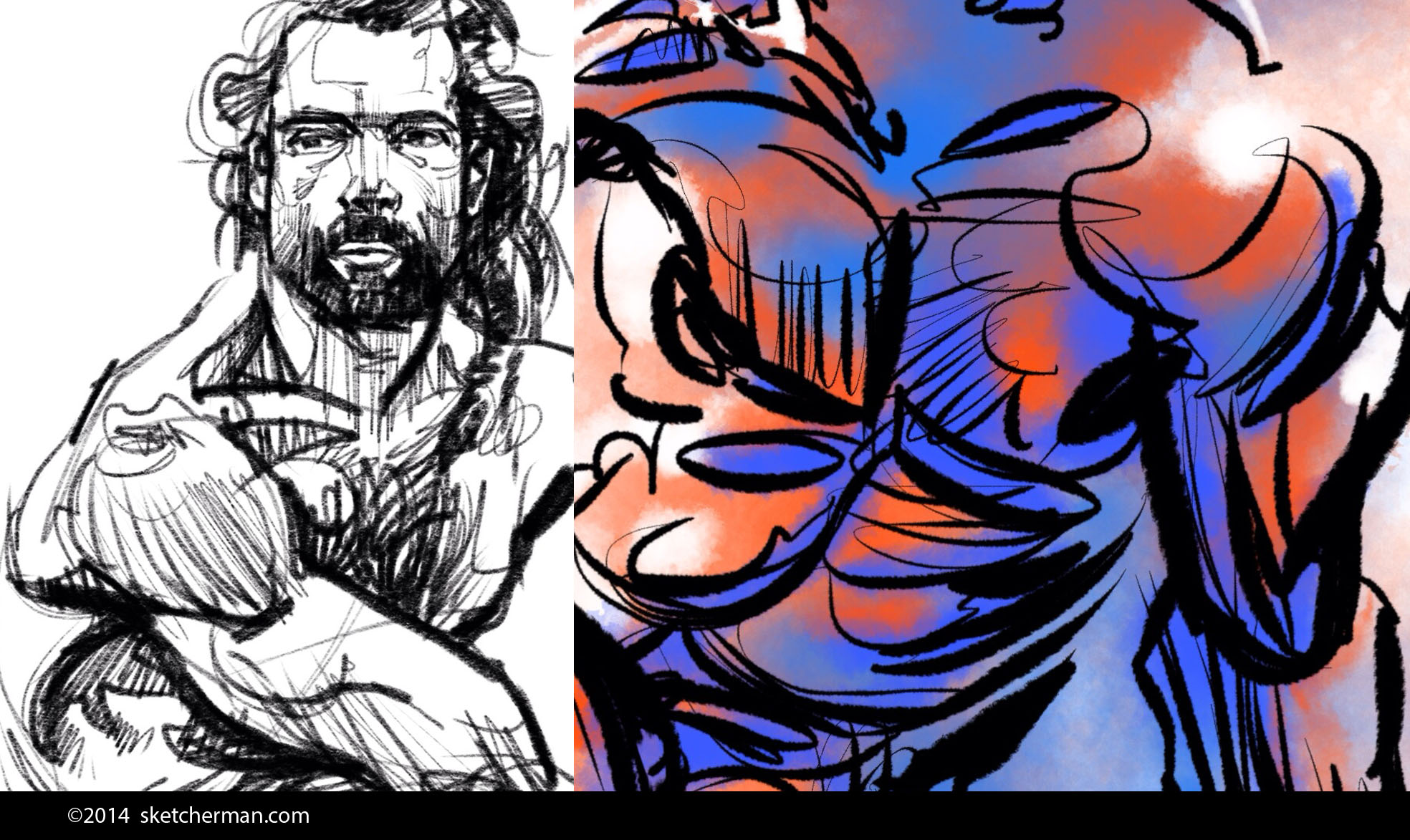 The sketches above give you an idea of what's possible. Tools used: Pencil tool on the left, and Ink Bleed + Water Brush tools on the right. All of them came with Procreate, but I modified the settings to suit my preferences.