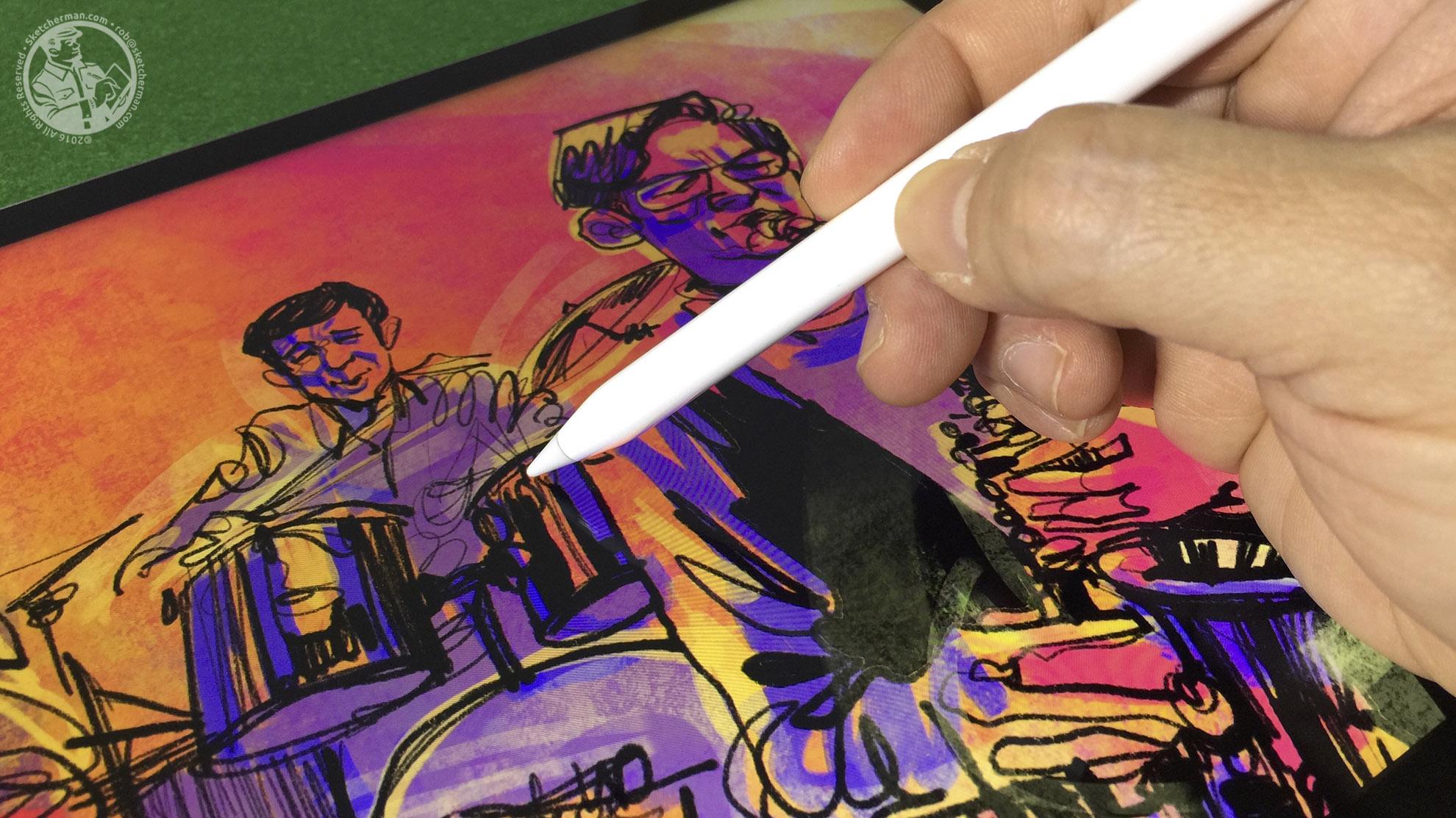 Urban sketching on iPad Pro with Apple Pencil-Sketcherman.jpg