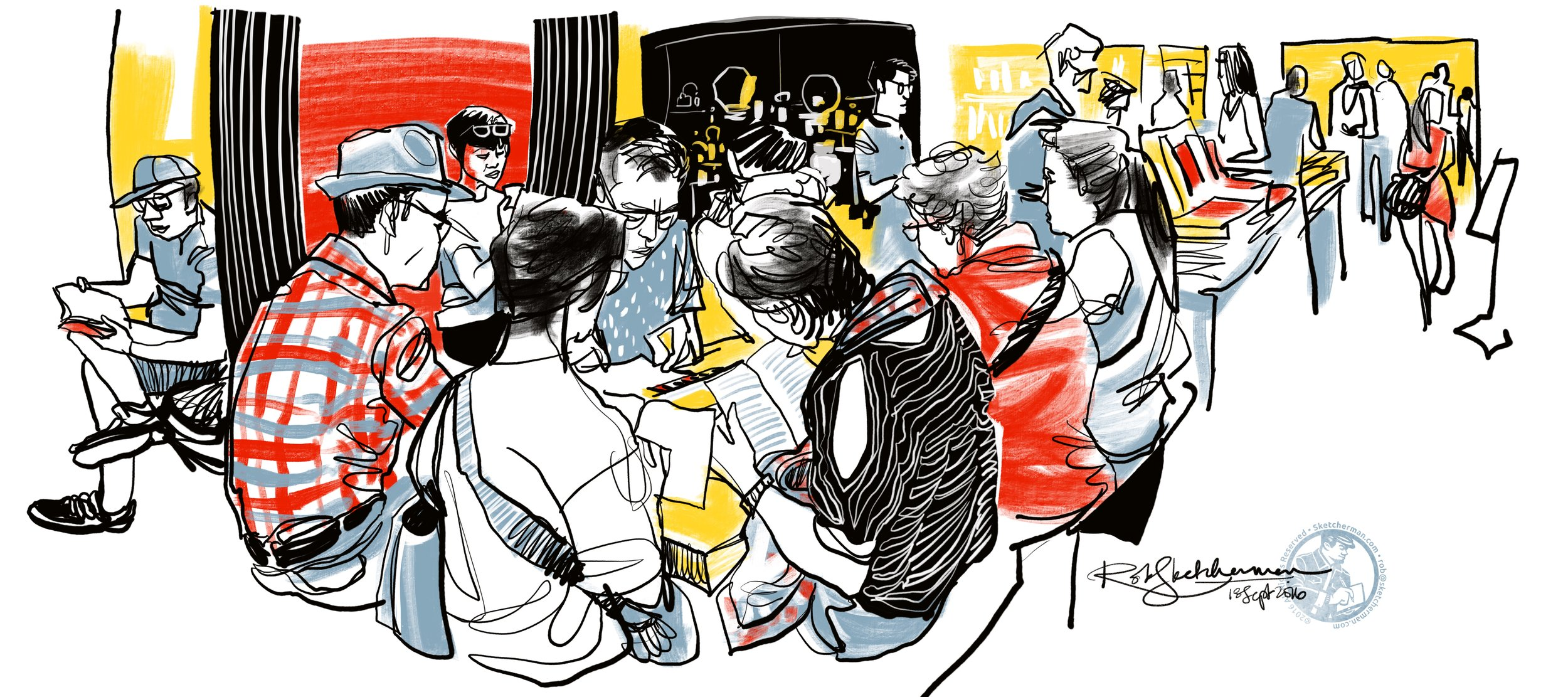 Eslite crowd-Sketcherman.JPG