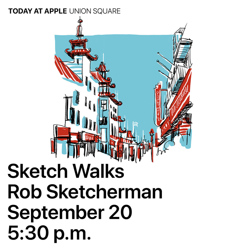 2017-Today at Apple-Union Square-Sketcherman.JPG