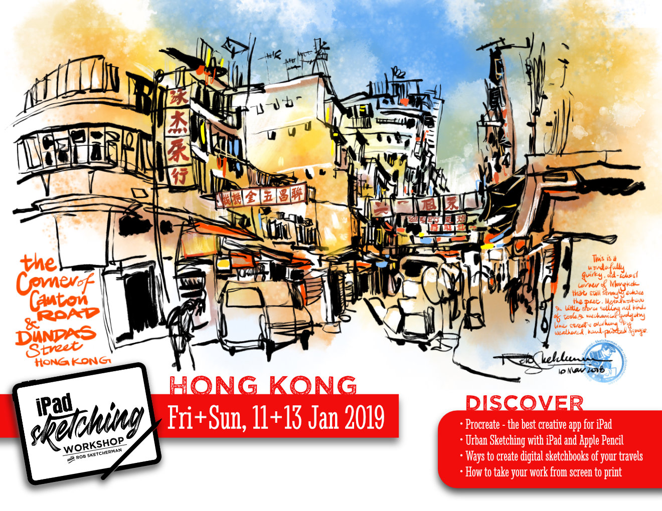 iPad Sketching Workshop-HK — sketcherman com