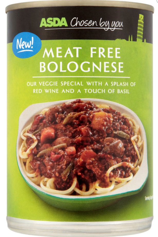 Asda Chosen By You Meat Free Bolognese