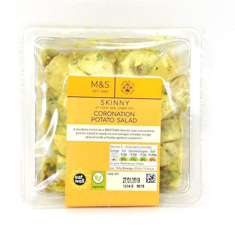 M&S Coronation  Potato Salad