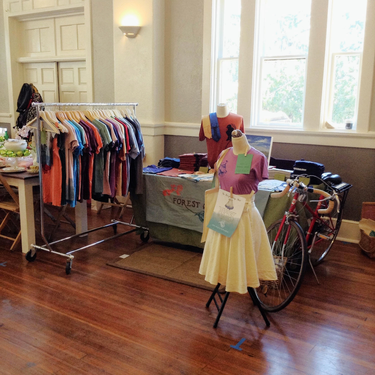 My setup at the Merry Maker Holiday Market on Saturday (after it finally slowed down enough to get a good shot!).