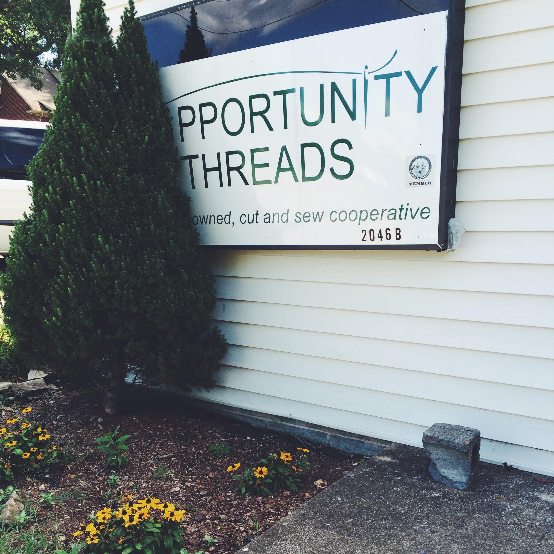 Opportunity Threads workspace in Morganton, NC.