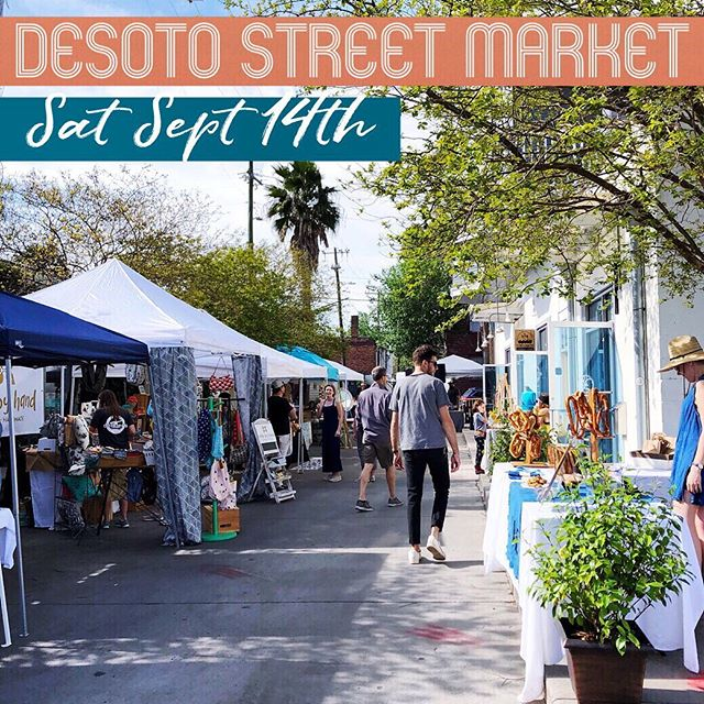 The next Desoto Street Market is tomorrow from 10-6pm —will you be there?? We hope so! 20 awesome local artists vendors | @twotidesbrewing serving brews on the street | a kids coloring table @sipshopmakesav | @dj.press.play and live tunes by @jon_lee_murphy in the afternoon | fun times in the neighborhood #starlanddistrict #desotostreetmarket #starlandshopping #savannahshopping #whattodoinsavannah #connectsavannah #savannahevents #savannahindiemarket #shopsmallsavannah