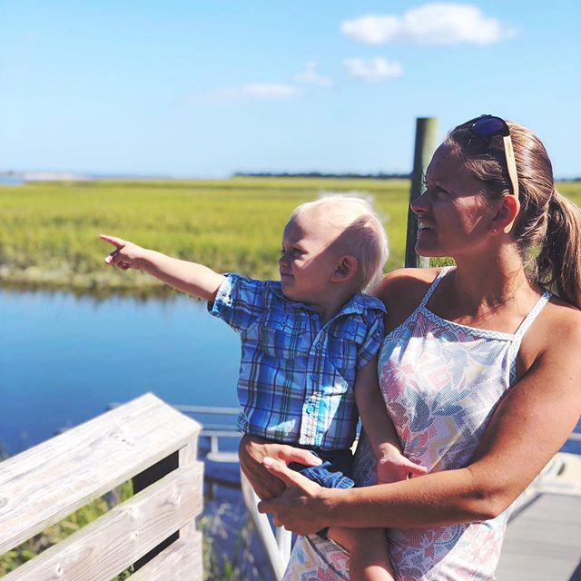 Loved showing my little man around @baldheadisland last week - where I vacationed as a child.Trying to hang on to all those vacation vibes as I jump right back into the thick of it! #baldheadisland #vacationvibes #momandson #marshtime #adventureswithatoddler #earthlifebalance