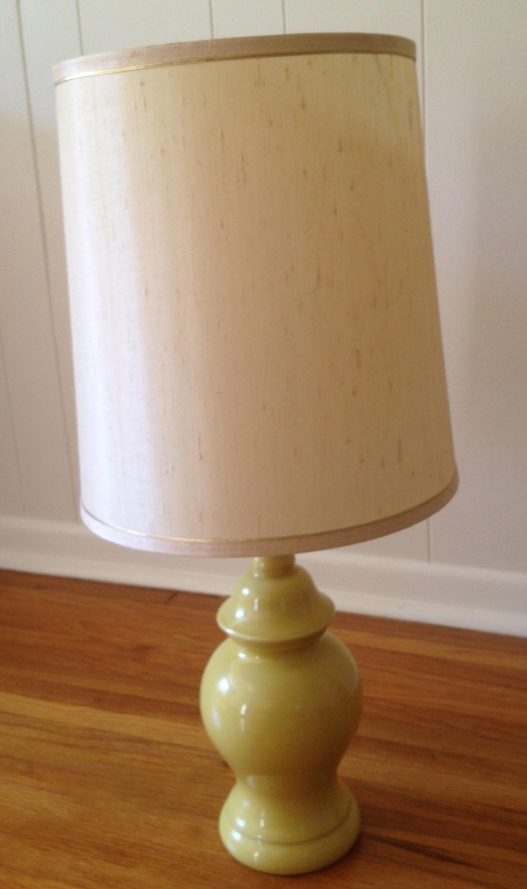 yellow vintage lamp