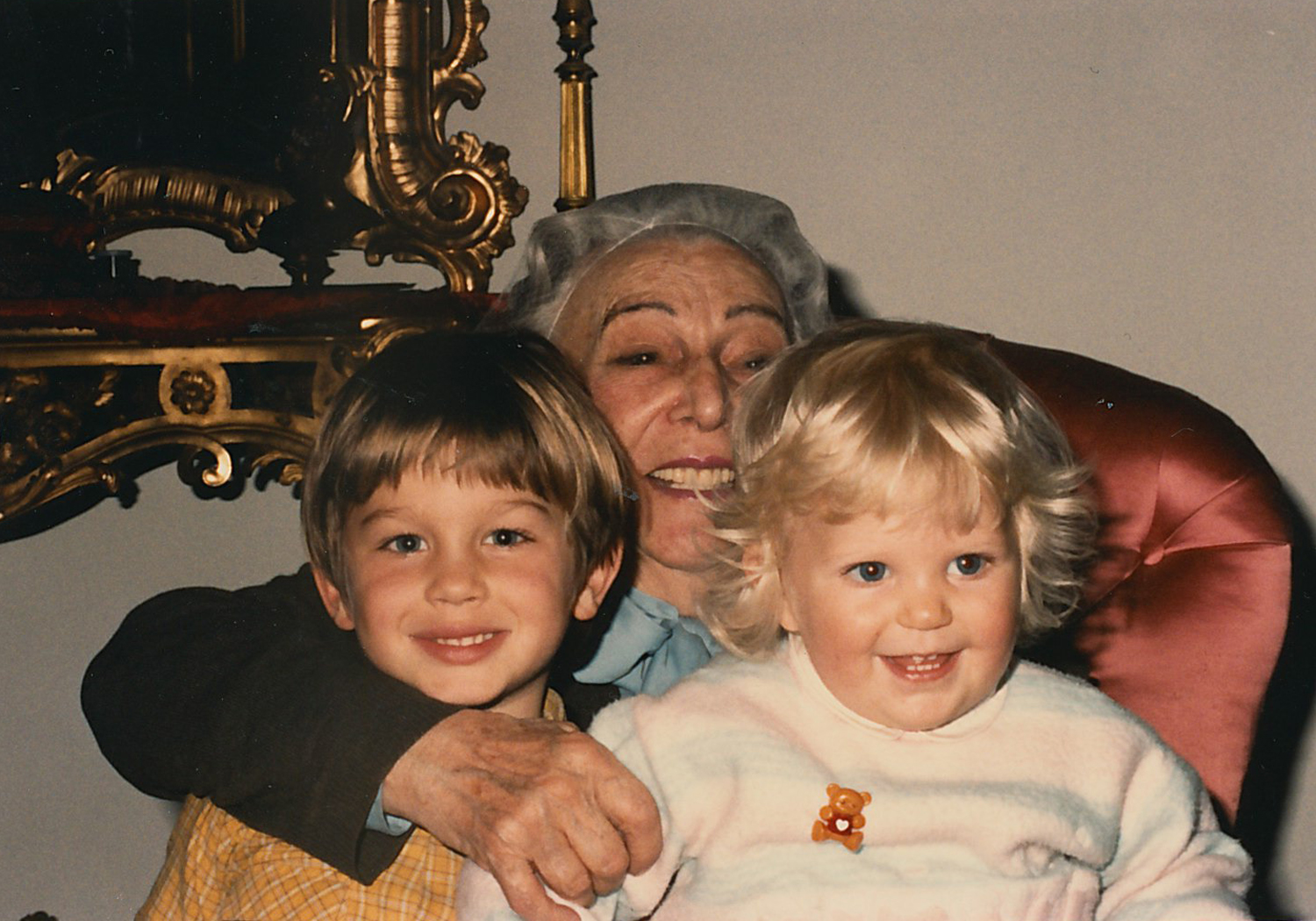 With her two eldest great-grandchildren -- me and my cousin Carlo -- in 1985.