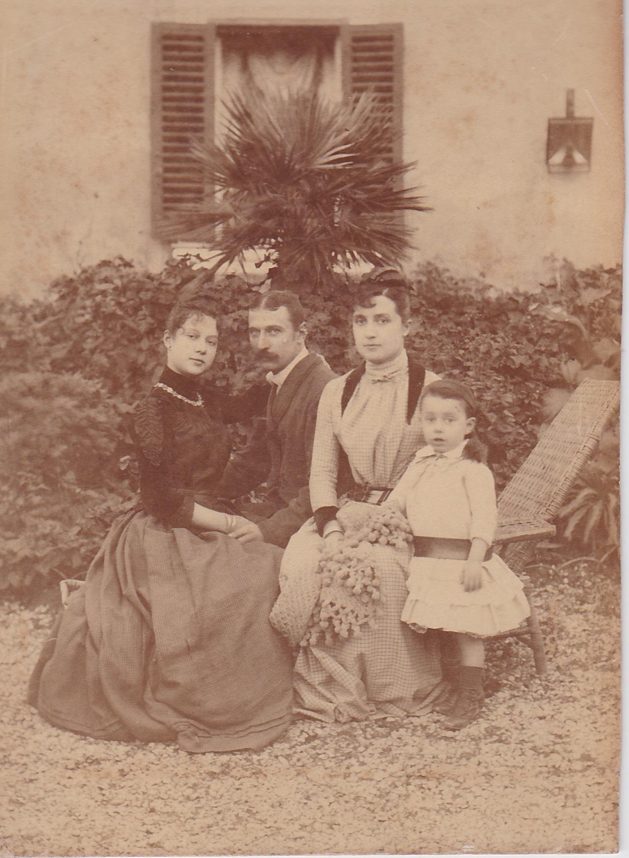 Marie, Ernesto, Adele and Raoul De Forcade.