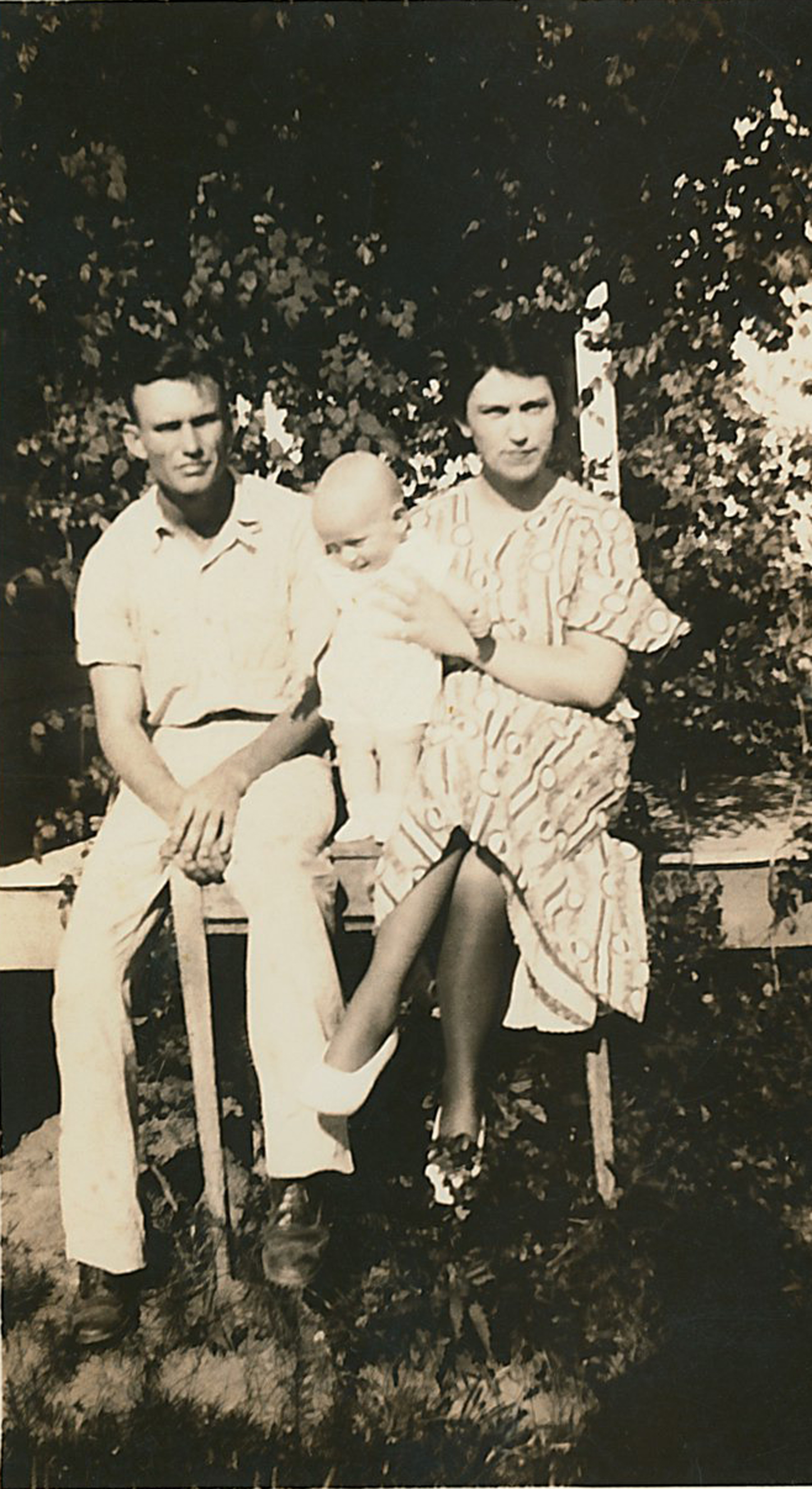 Elzie Harden holding her son Gerald. Also pictured is Gerald's father Dayton Harden.
