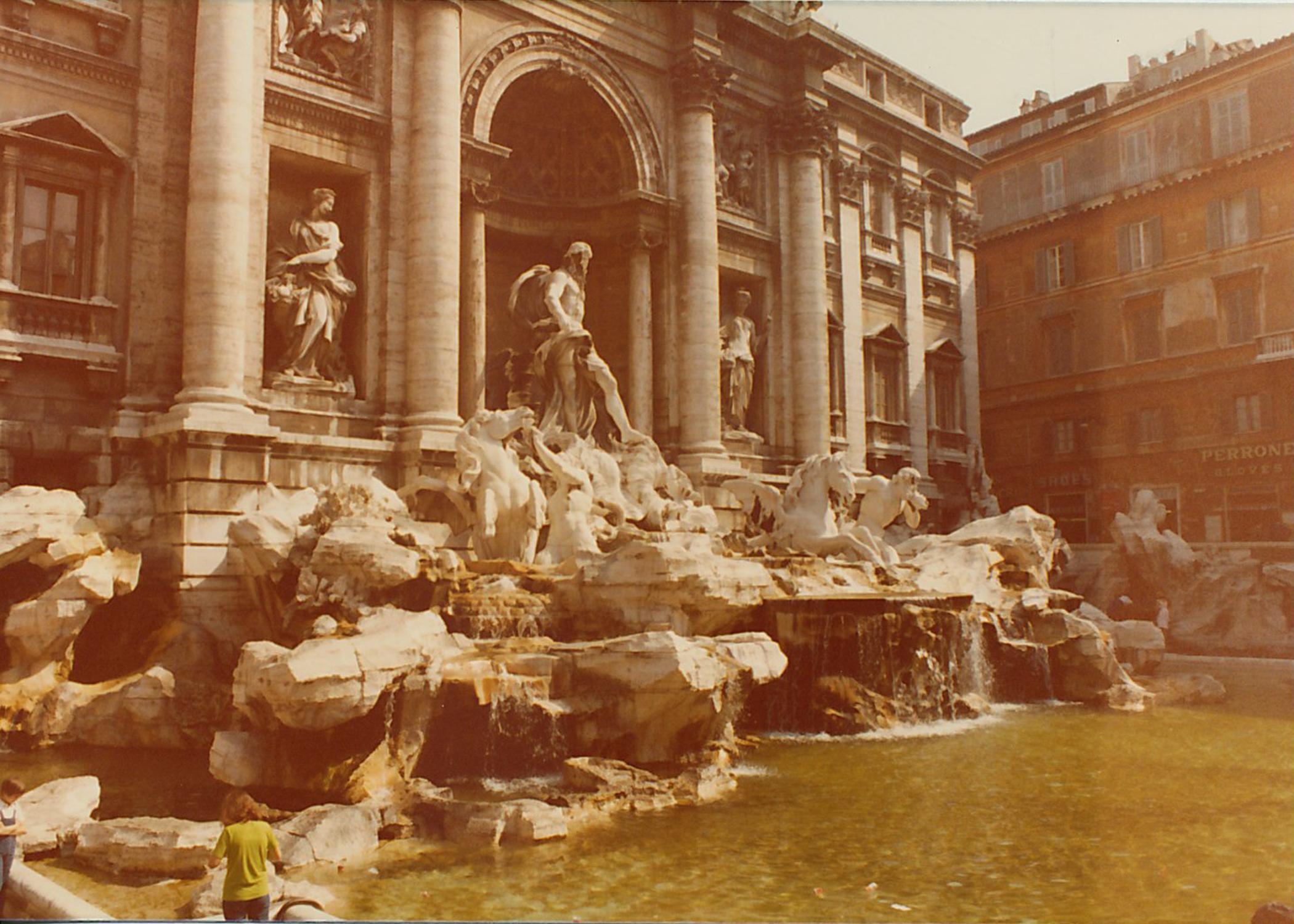 The glorious Trevi Fountain.