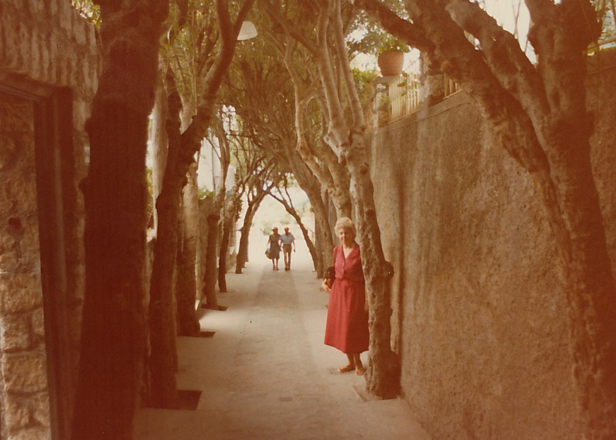 Joan exploring Capri, Italy.