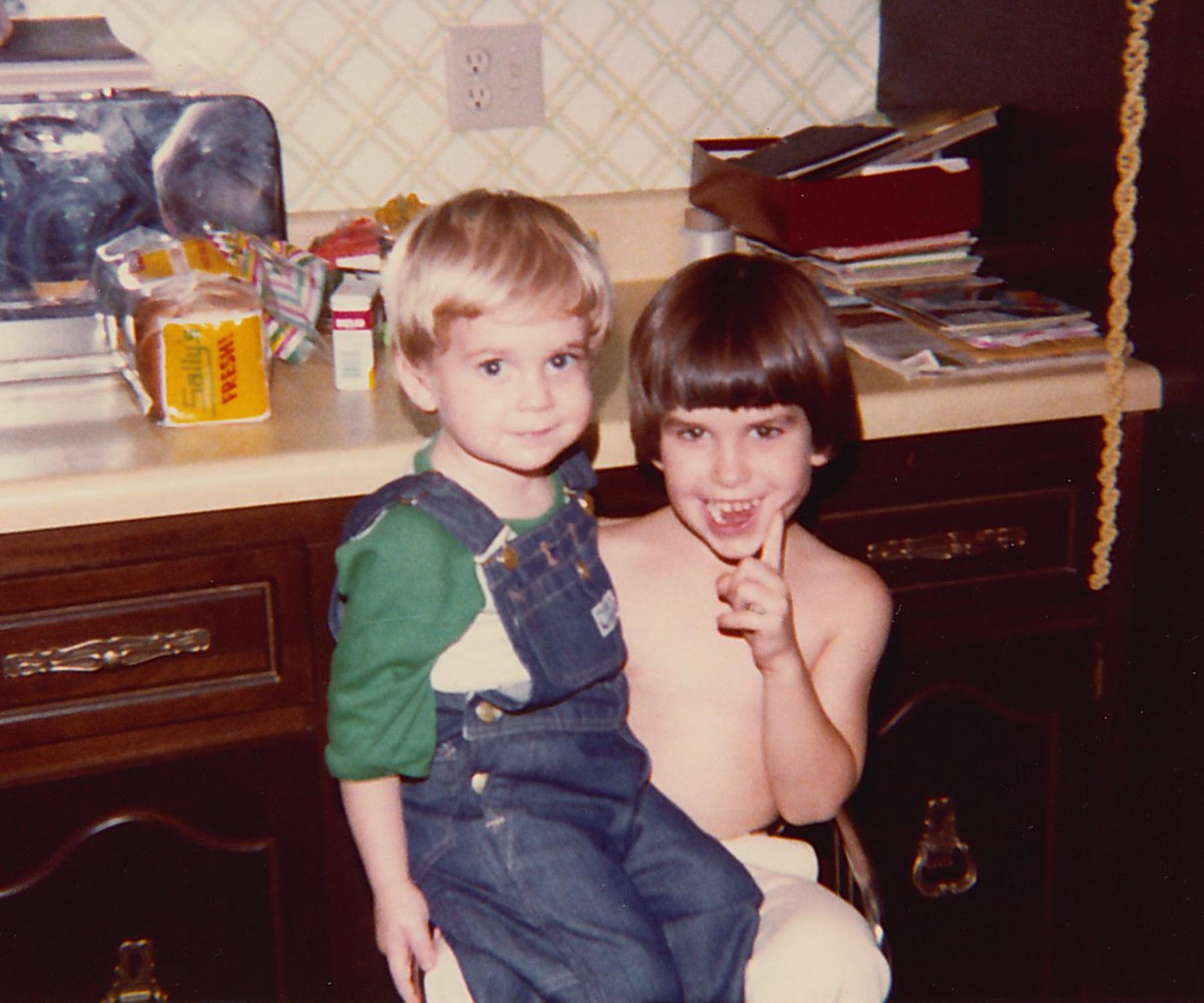 Jonathan and his cousin Michael.